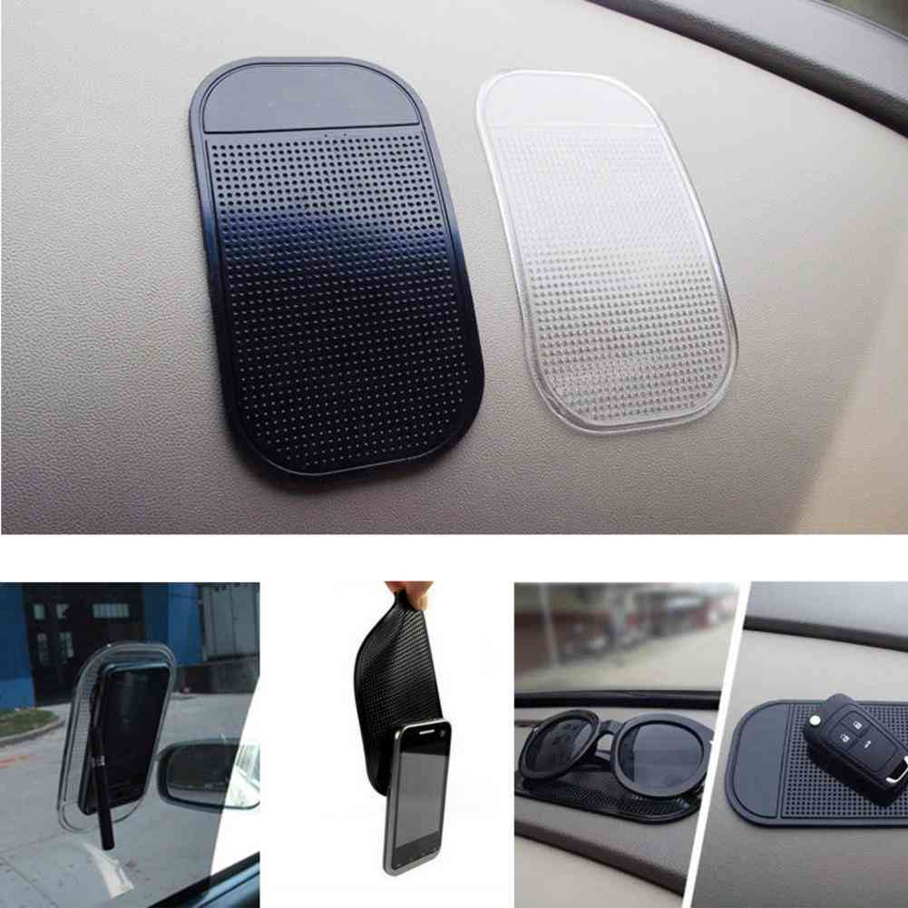 Car Non-slip Mat, Auto Silicone Interior Dashboard Phone Anti-slip Storage Mats Pads