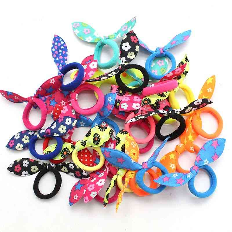 20pcs Cute Headband Ring Scrunchie, Ponytail Holder - Hair Accessories For