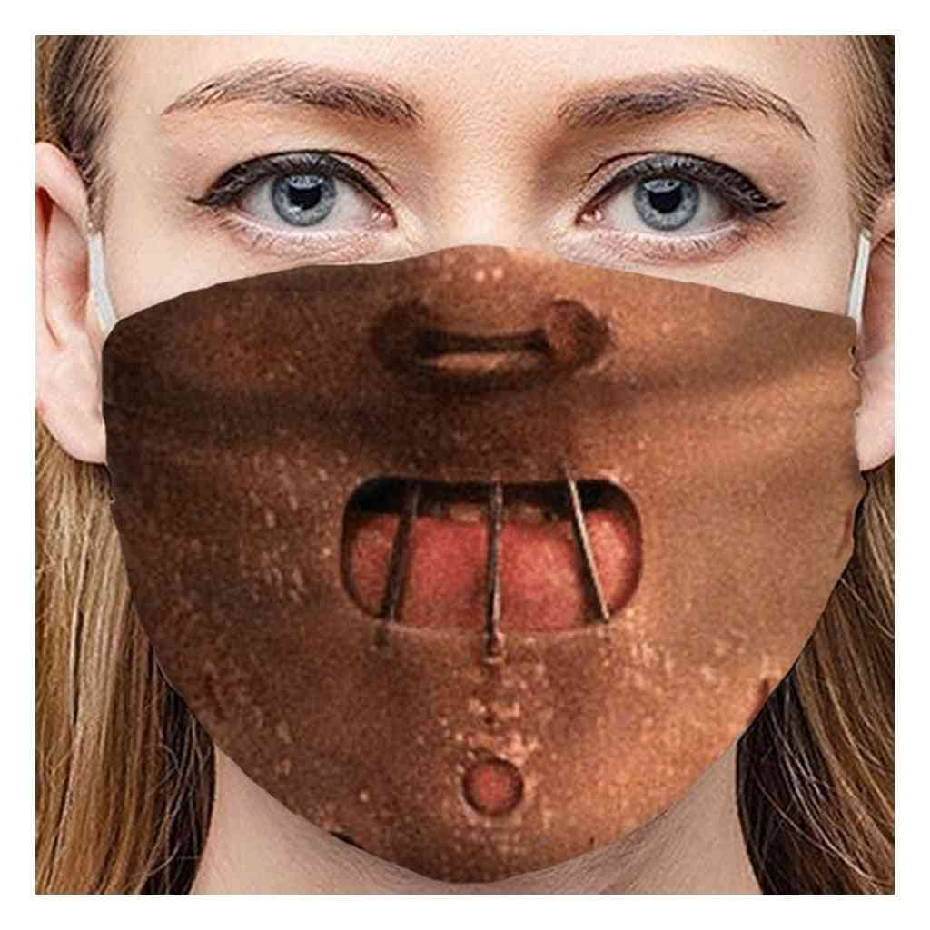 Universal Printed Masks, Outdoor Riding Face Cover, Women