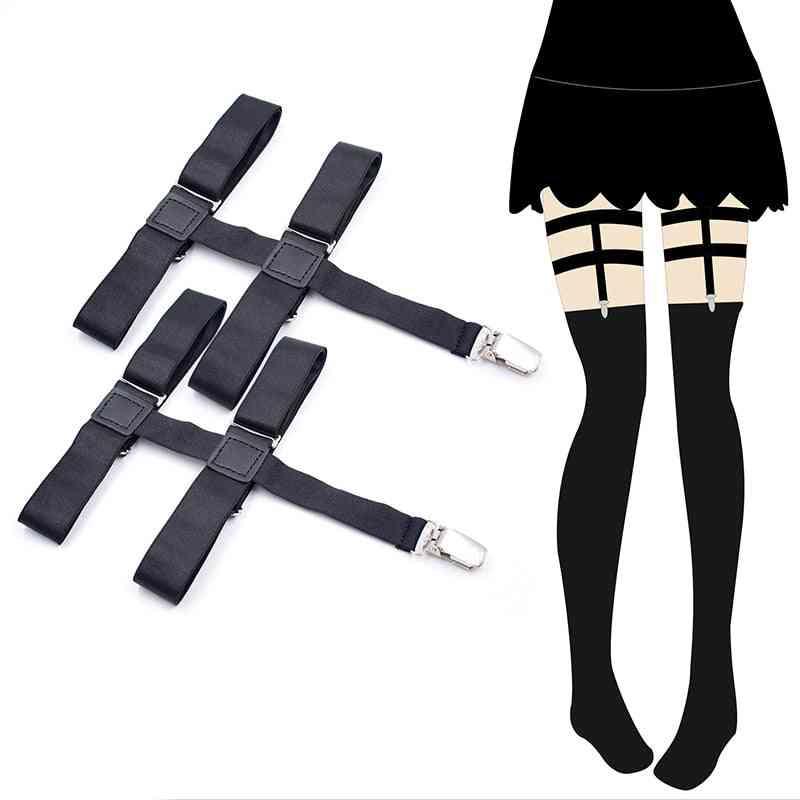 Women's Black Metal Clips - Non-slip Stockings, Garters Stays Suspenders
