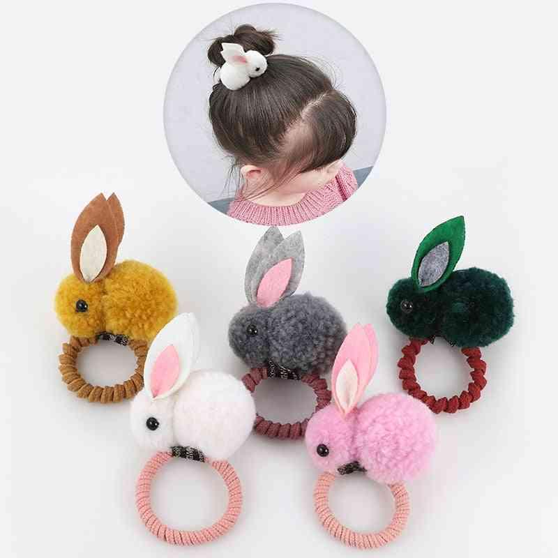 Cute Animal Hairball, Rabbit Hair Ring Rubber Band