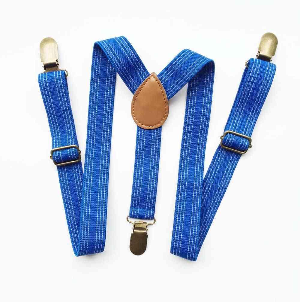 Suspender, Clip-on Braces - Adjustable Stripe For