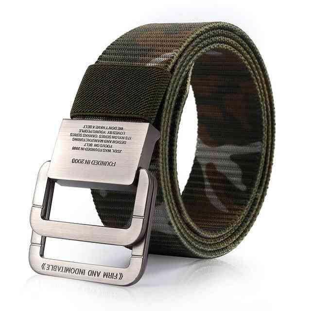 Men's Tactical Belt, Outdoor Sports Hook Metal Buckle, Military Nylon Training Belts Men