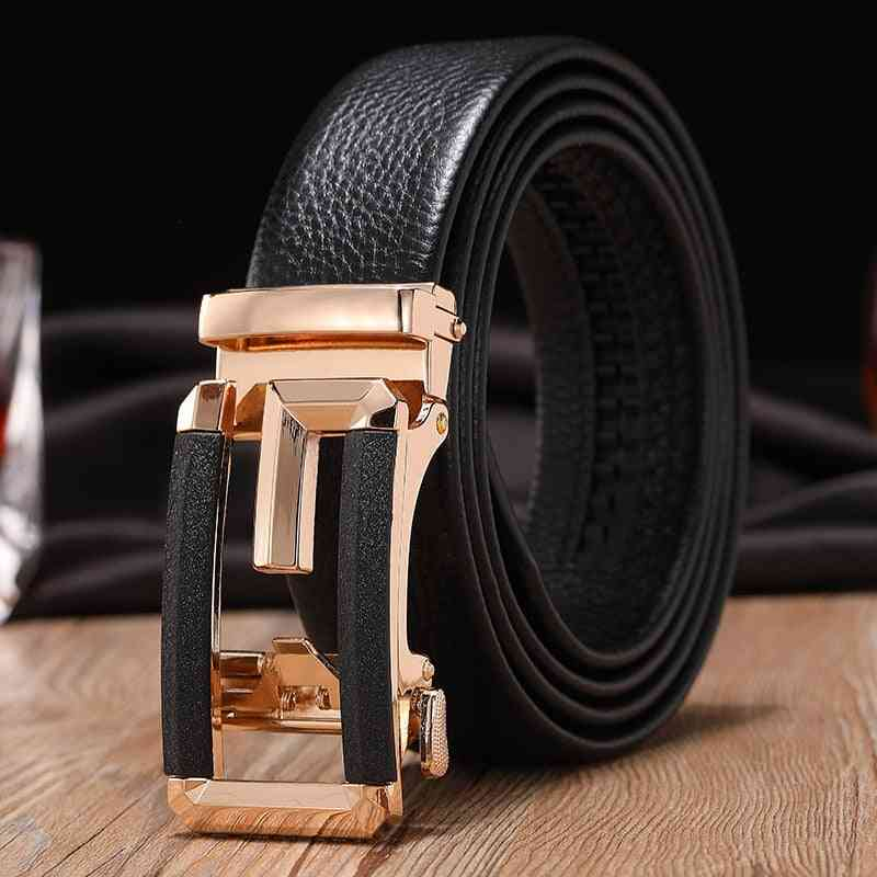 High Quality Men Genuine Leather Strap Buckle Belt
