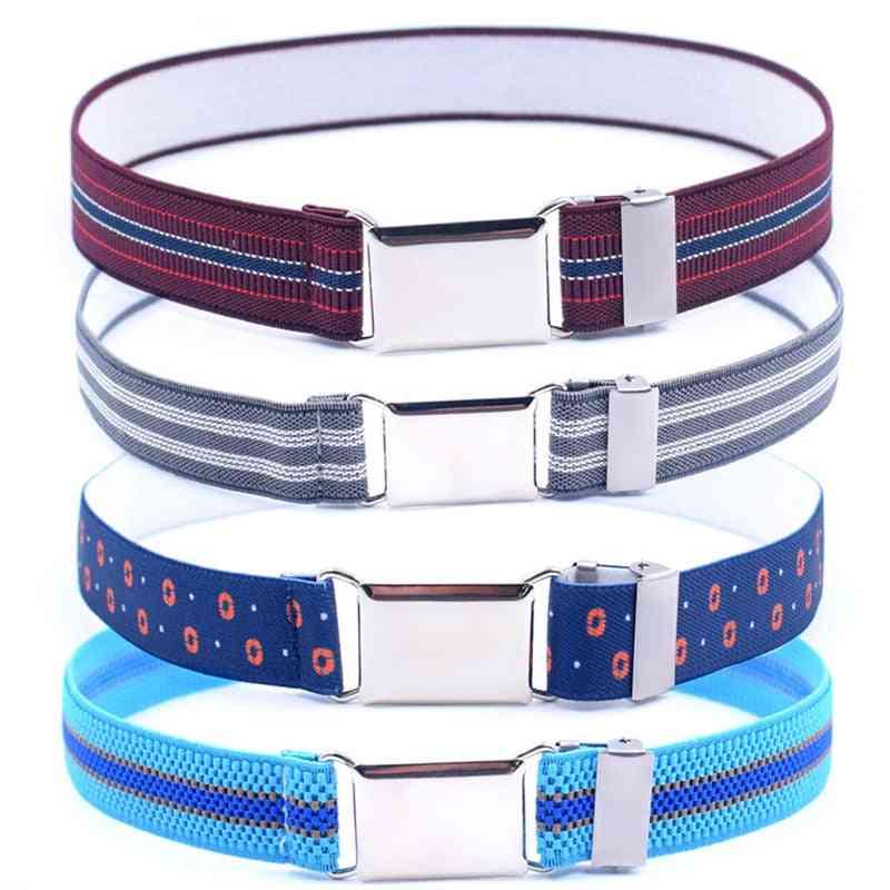 Women Canvas Belt, Adjustable, Elastic Solid Color Waistband Pant Accessories