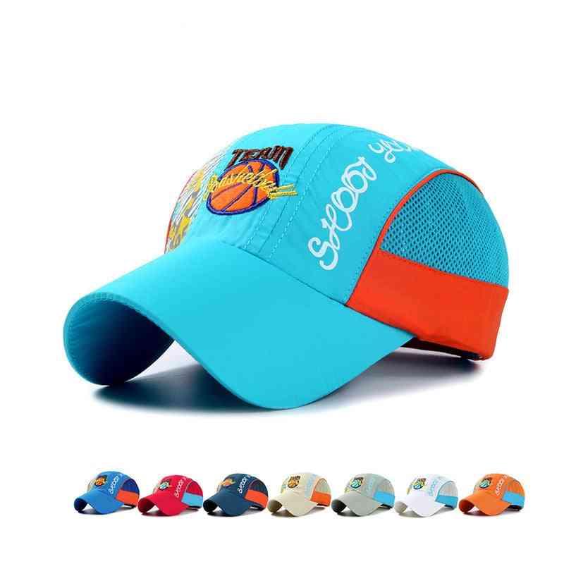 Summer Beach Adjustable Mesh Baby Sun Protection Cap.