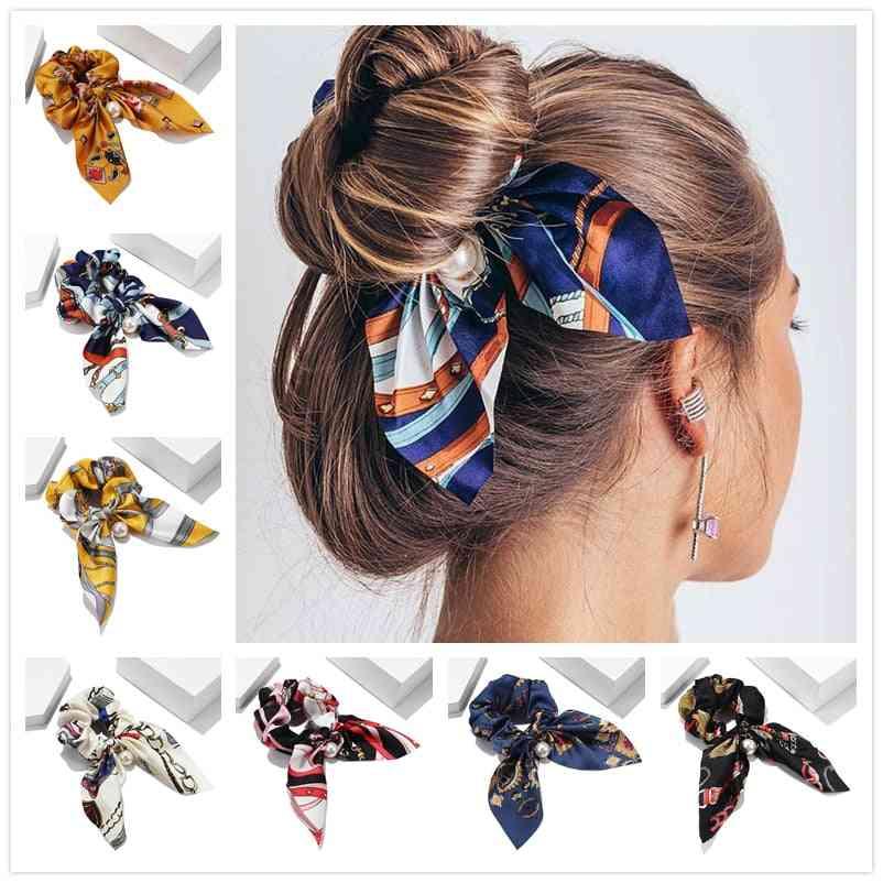 Chiffon Bowknot Elastic Hair Band