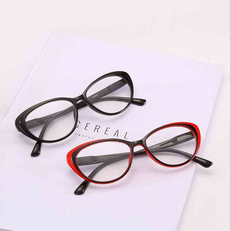 Classcial Cat Eyes Reading Glasses, Clear Lens, Presbyopia Spectacles Eyewear