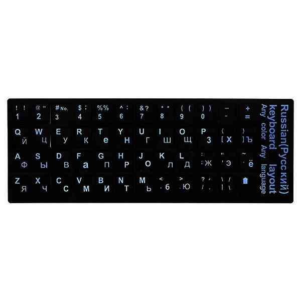 Russian Language Standard Keyboard Sticker With Button Letters Alphabet