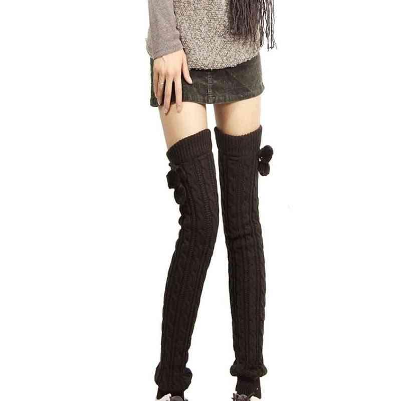 Women Knitted Warm Long Leg Warmers/knee-stocks