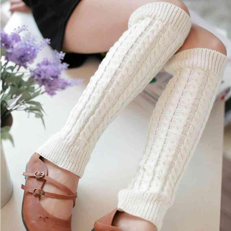 Winter Knit, Knee High Crochet Socks