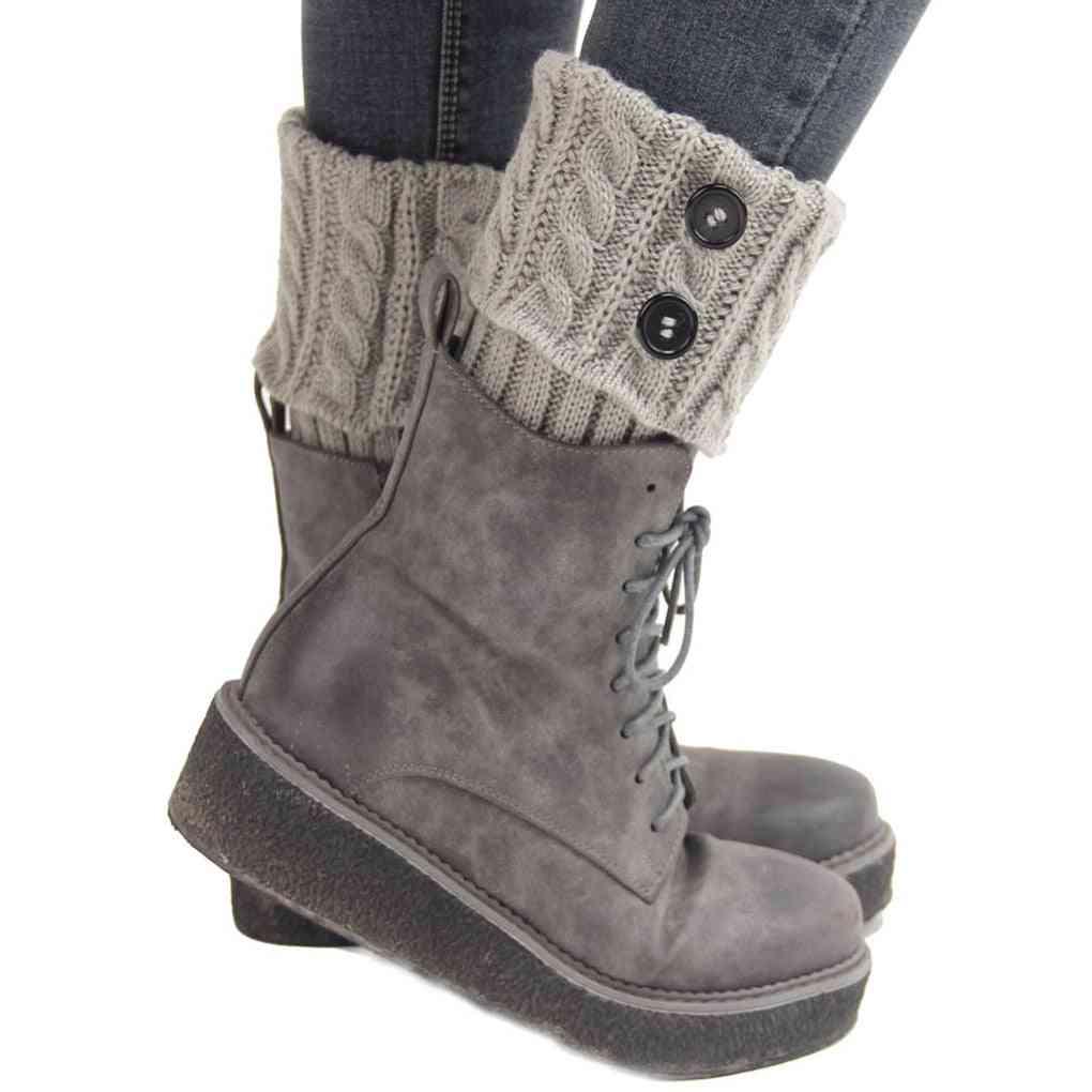 Women Winter Knitting Leg Warmers Boot Cover Socks