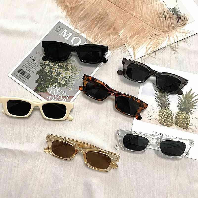 Rectangle Vintage Designer Retro Points Sun Glasses For Female