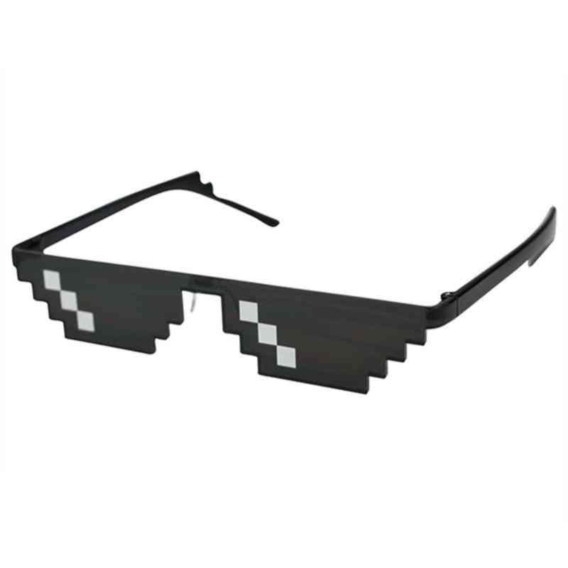 Pixelated Men's Women's Thug Life Party Glasses