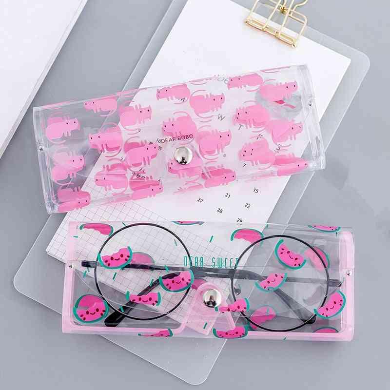 Transparent Pvc Eye Glasses Protection Case
