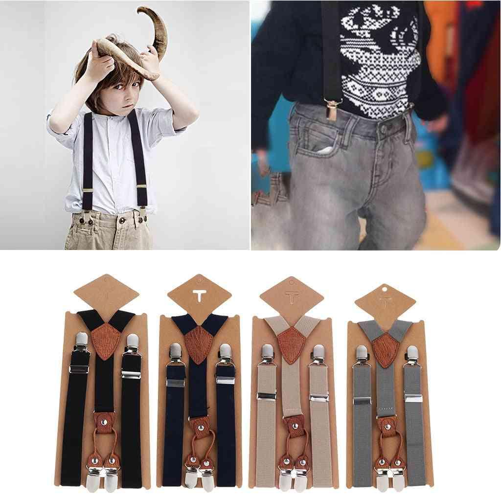 Cute Baby Girl Clip On Suspender, Y Back, Child, Kid Elastic Braces Cloth