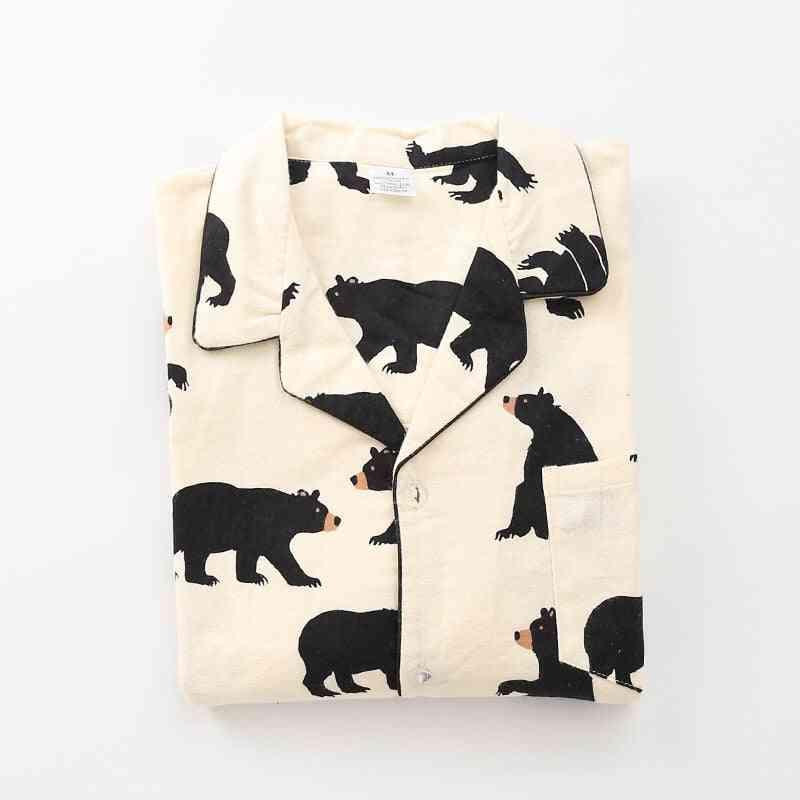 Autumn Fashion Cute White Bear Pajama Sets