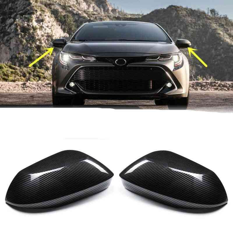 Cover Side Wing Cap Carbon Fiber For Toyota Corolla Hatchback