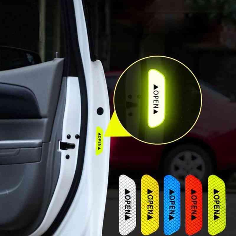 Car Door Stickers Universal Safety Warning Mark