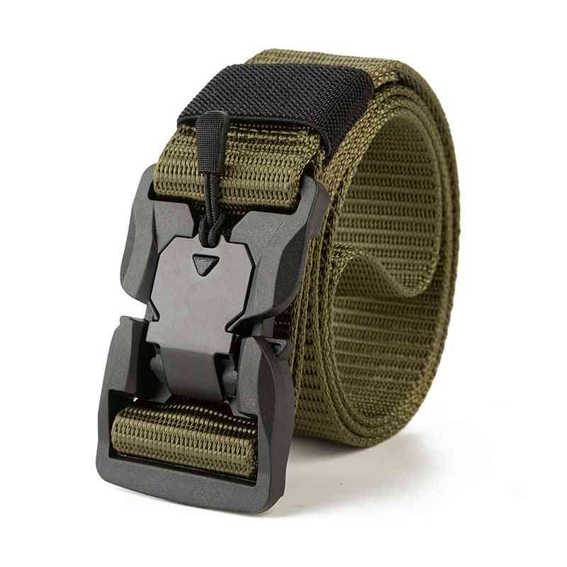 Military Multifunctional, Fiber Waist Army Tactical Outdoor Magnetic Buckle  Belt