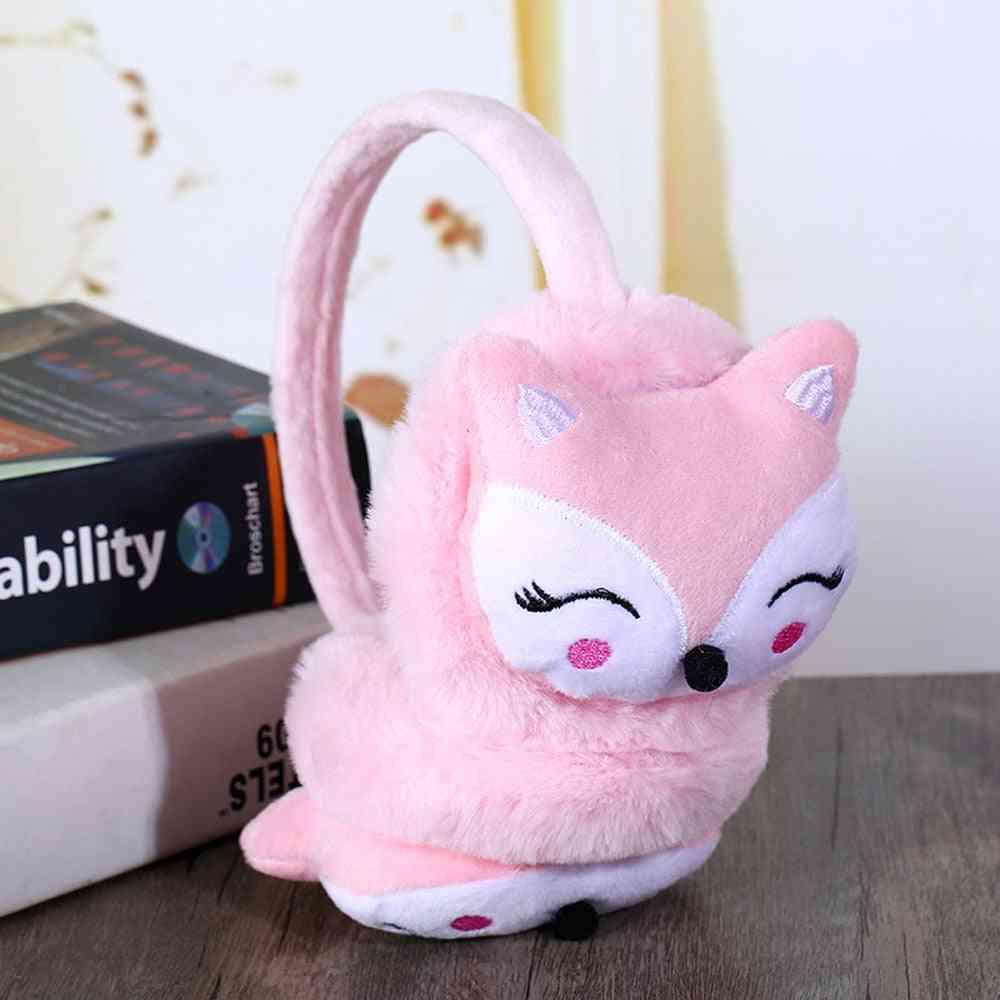 Children's Winter Fluffy Soft Adjustable Earmuffs,
