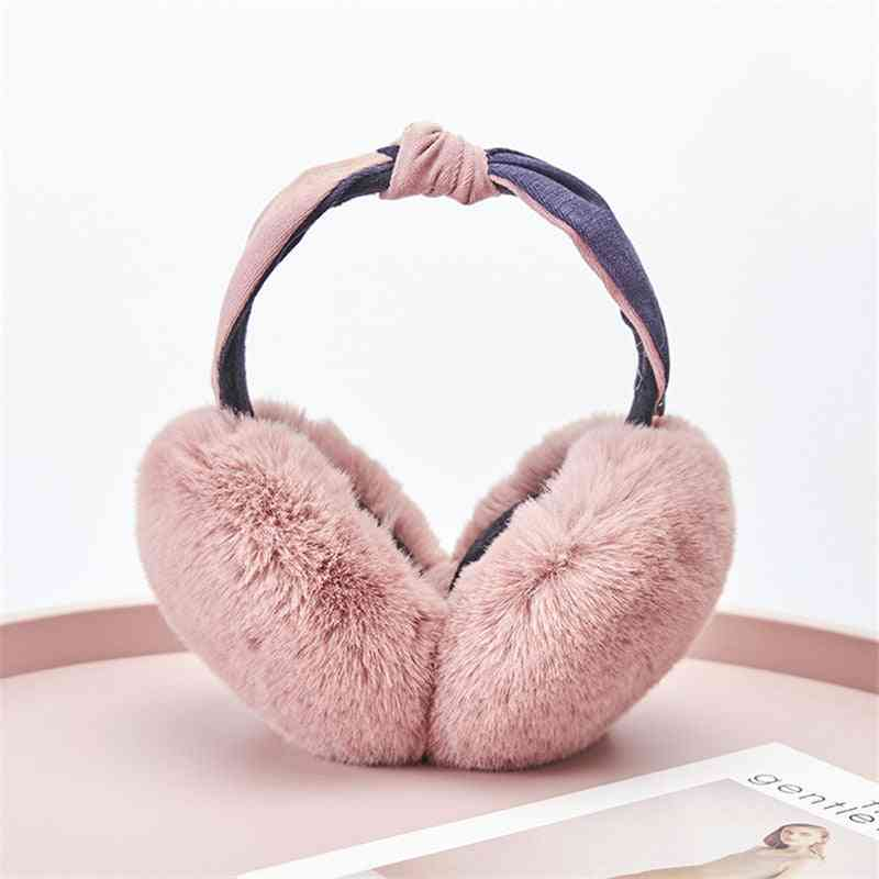 Women Winter Outdoor Earmuff Bowknot Headphone