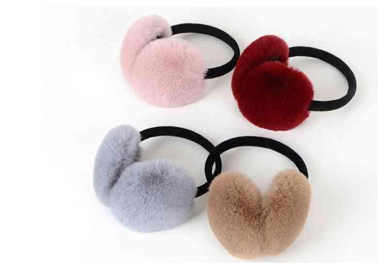 Winter Warm, Imitate Rabbit Thick Fur Earmuff