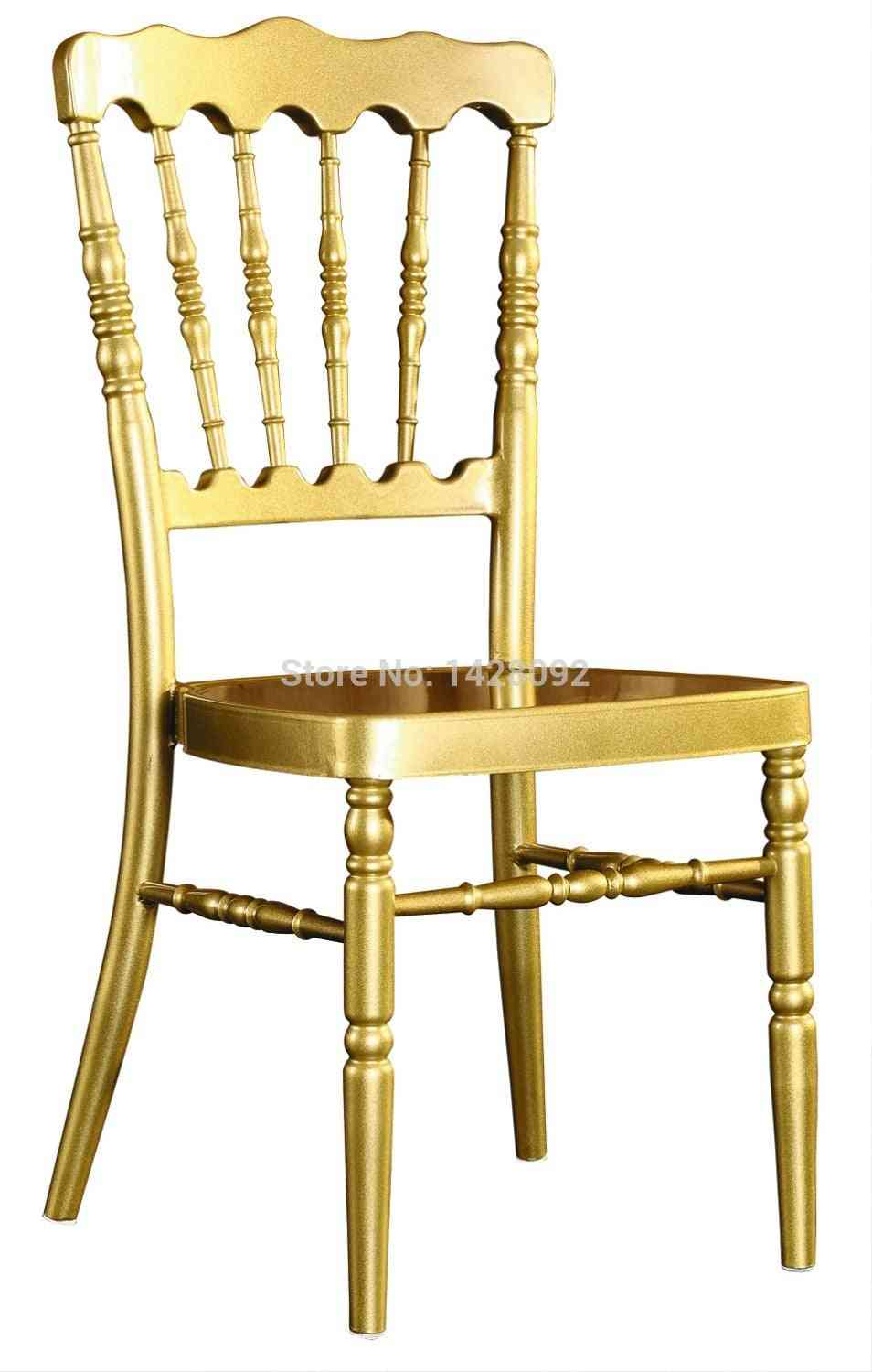 Strong Gold Aluminum Napoleon Chair For Wedding Events Party