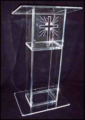 Organic Glass Acrylic Pulpit Of The Church