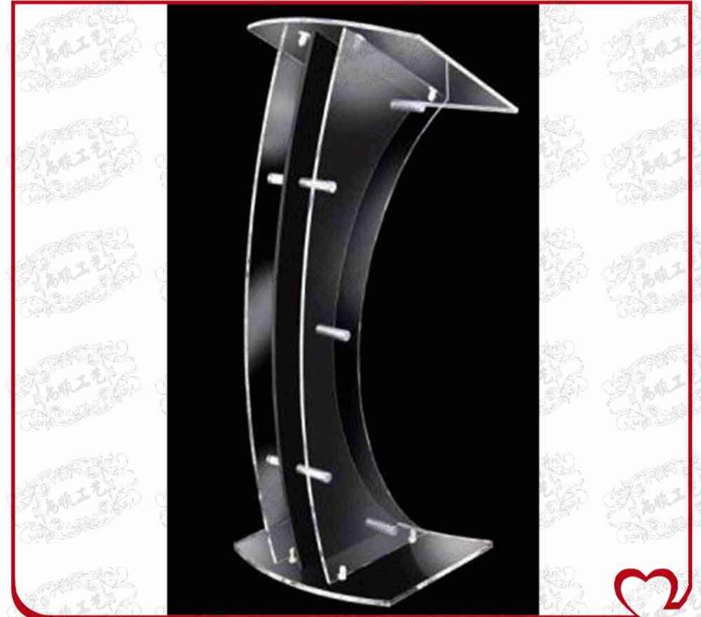 Christan Clear Church Plexiglass Prodium Acrylic / Pulpit Plexiglass / Desk Plexiglass