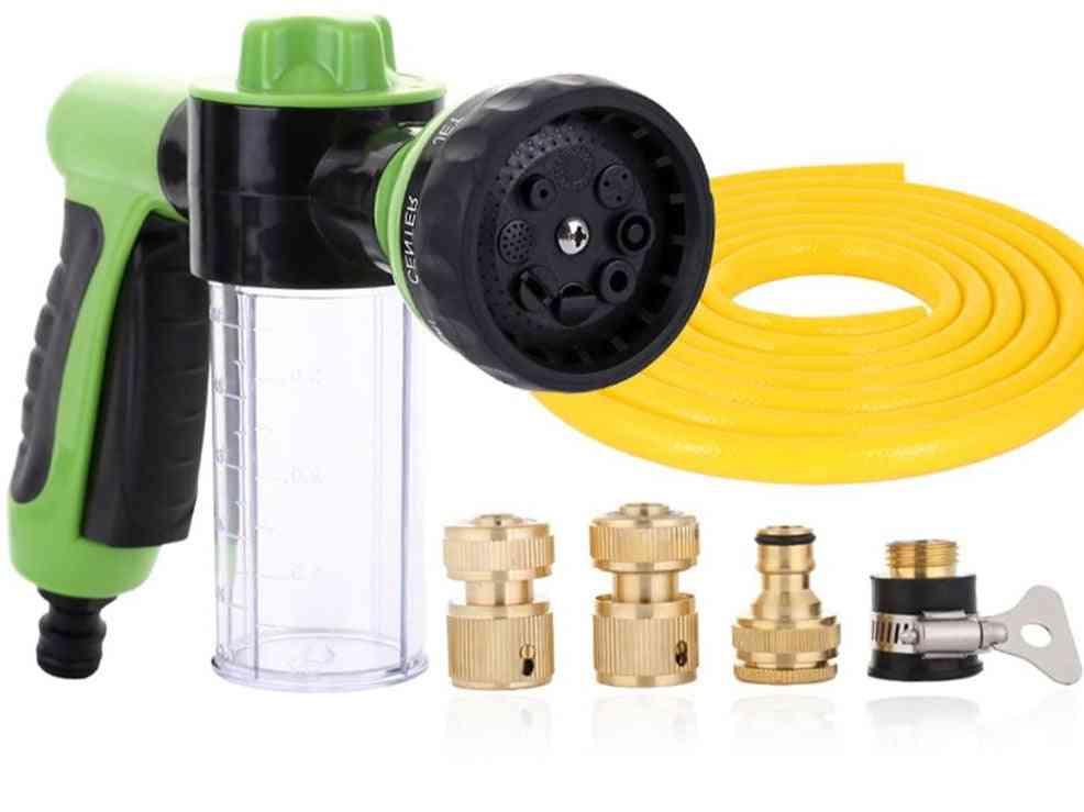 Water Hose, Foam Nozzle Soap Dispenser Gun For Car, Pets ,plants