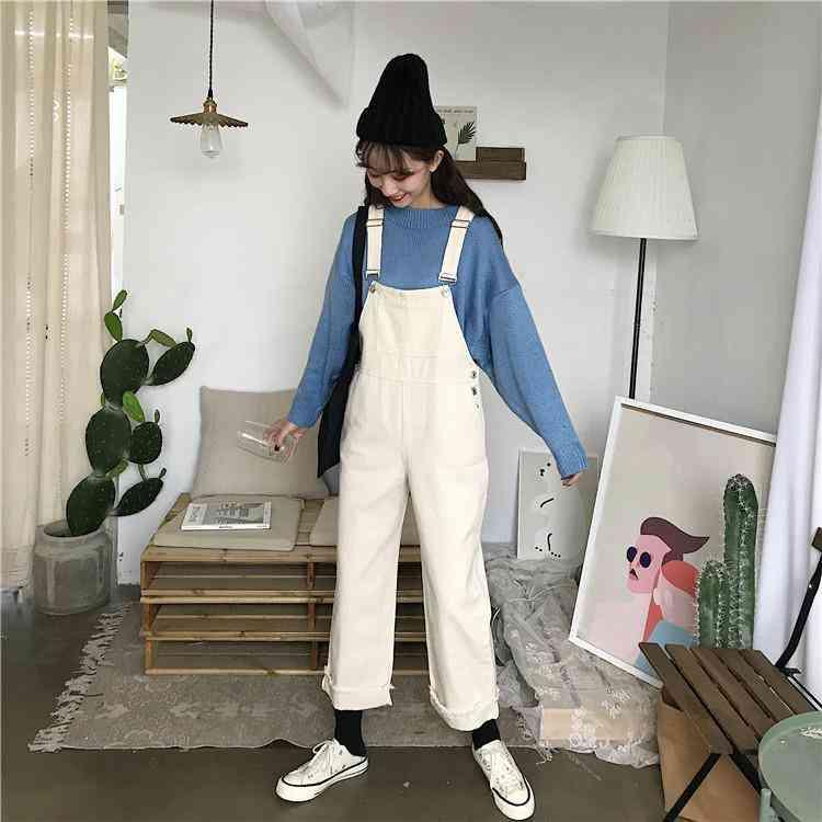 Loose Jumpsuits, Simple, Ankle-length Streetwears