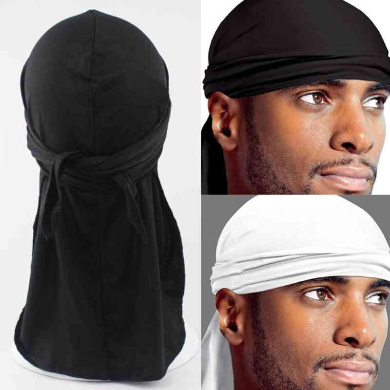 Men's Satin Durags Bandanna Turban, Wigs Silky Headwear, Headband, Pirate Hat