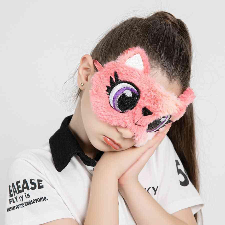 Children Eye Mask Colorful, Fur Sleeping Band For