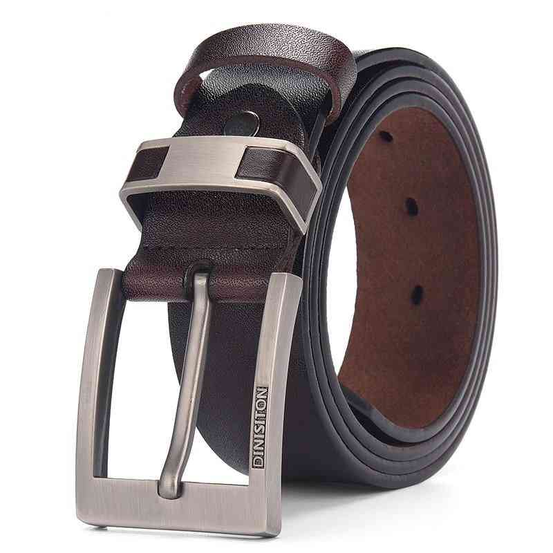 Cow Genuine Leather Belts, Alloy Buckle Casual Male Vintage Strap