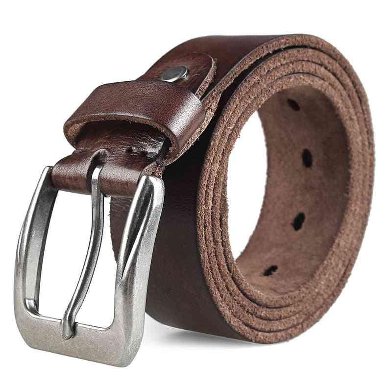 Vintage Design Pin Buckle Men Top Layer Leather Casual Belt