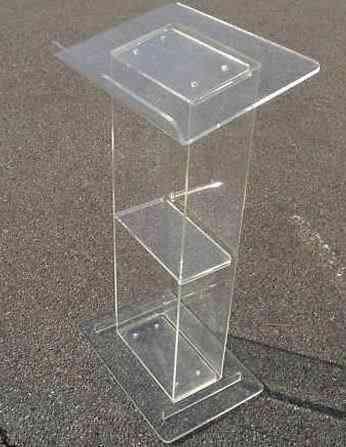 Podium Clear Furniture Lectern Acrylic Podium