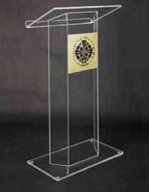Beautiful Easy Cheap Detachable Acrylic Podium Pulpit Lectern
