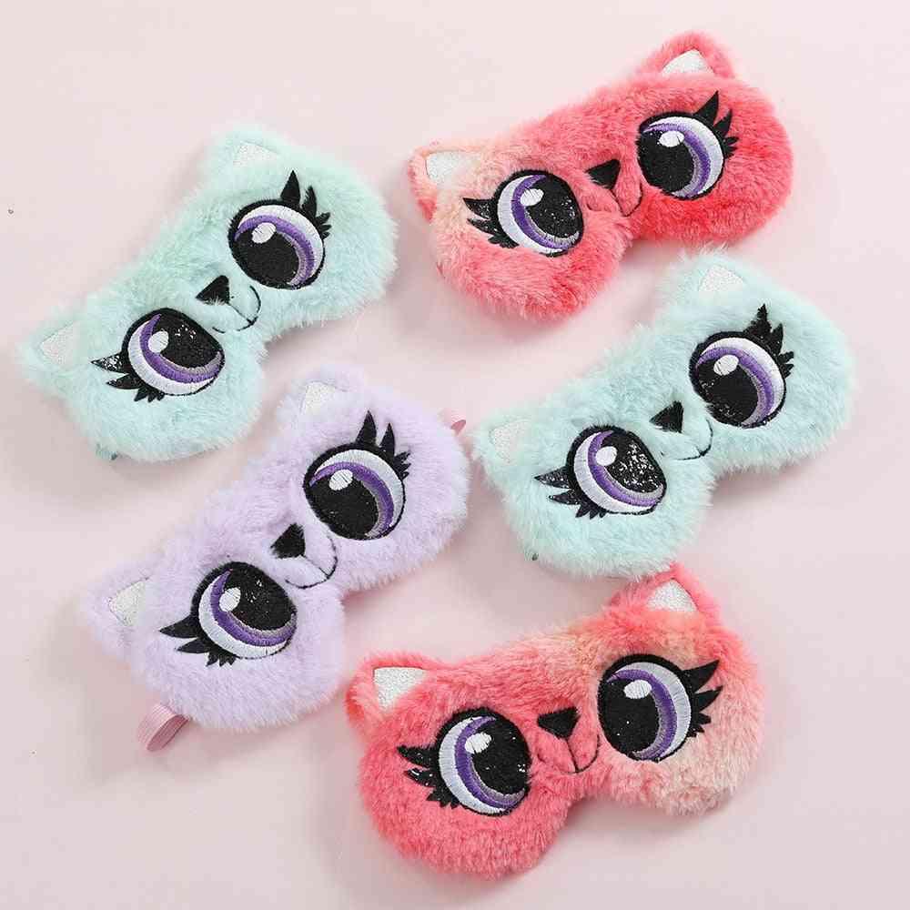 Kids Panda Plush Eye Mask, Blindfold For
