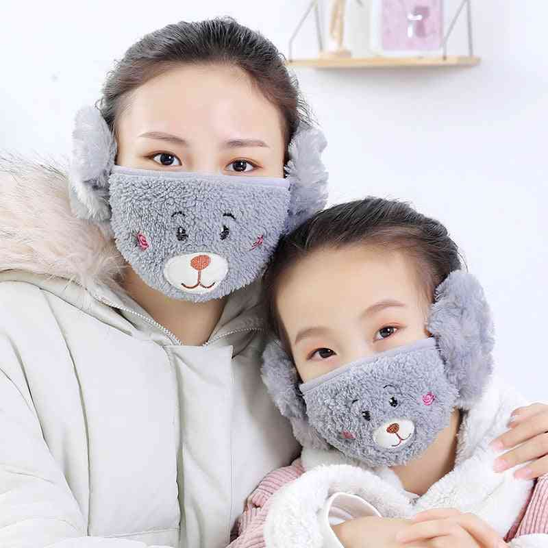 Winter Warm 2 In 1 Earmuffs, Mouth Cover Mask, Wrap Band Earlap For