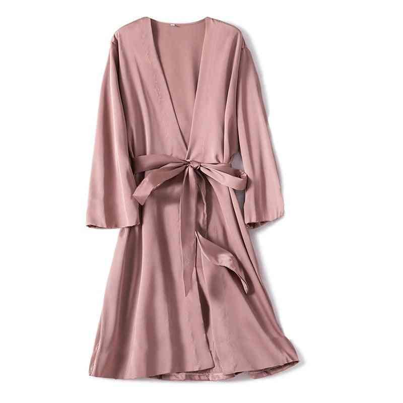 Casual, Comfortable Satin Silk Nightwear For Women