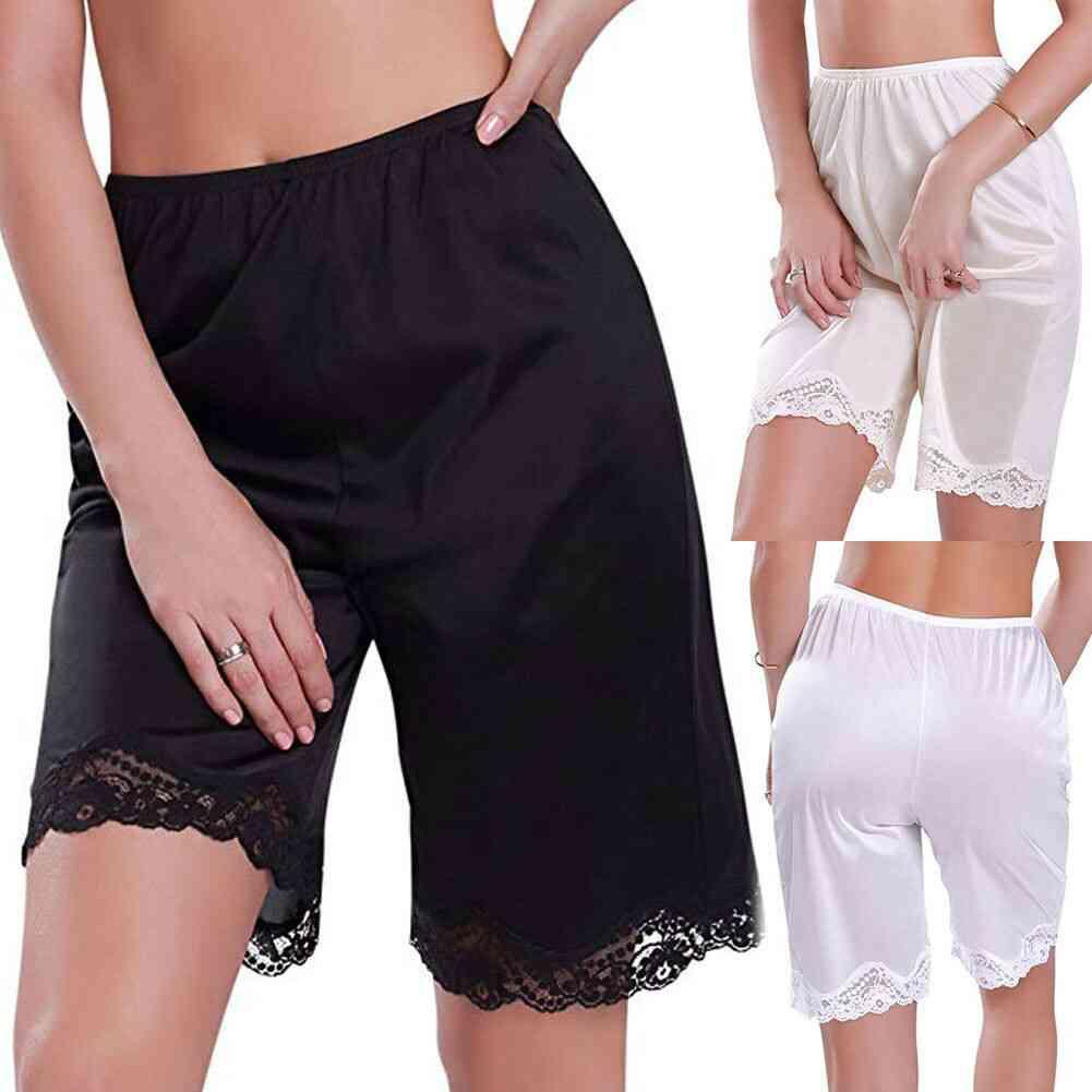Women Lace Slip Sleep Shorts Loose Panties Breathable Short Lingerie Sleepwear