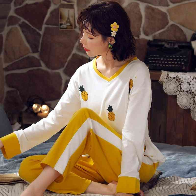 Lovely Avocado Pattern Cotton Short Underwear Pajamas