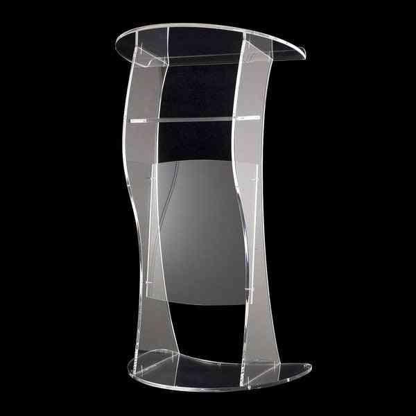 Plexiglass Lectern Modern Clear Thick Acrylic Podium Church Pulpit