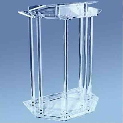 Clear Acrylic Podiums Pulpit For Church Classroom Lectern