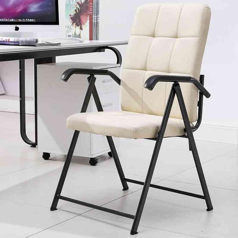 Modern Minimalist Computer Chair/ Home Office Meeting Training, Armrest Folding Chair