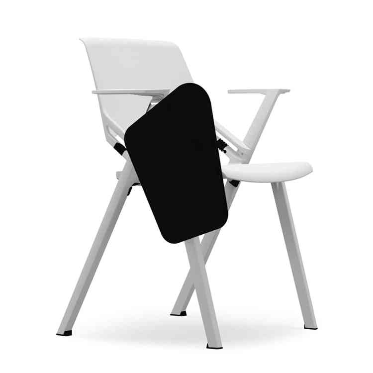 Folding Conference Training Chair With Writing Board