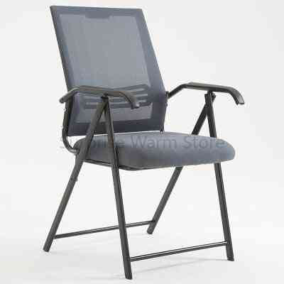 Modern Minimalist Computer Home Office Meeting Training Armrest Folding Chair