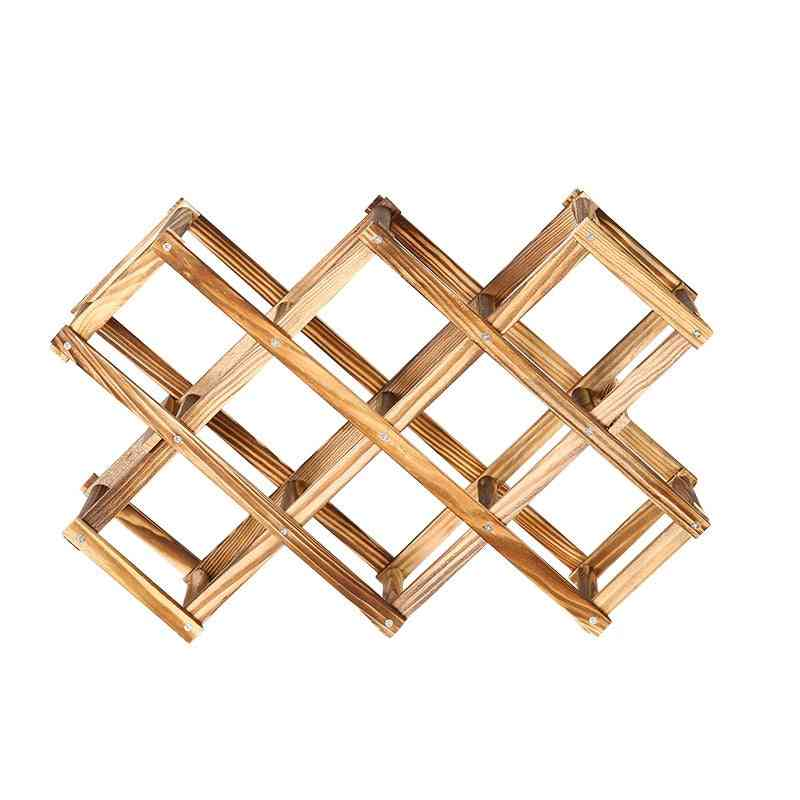 Wine Rack Wooden Wine Bottle Holders Creative Practical Collapsible Decorative Cabinet