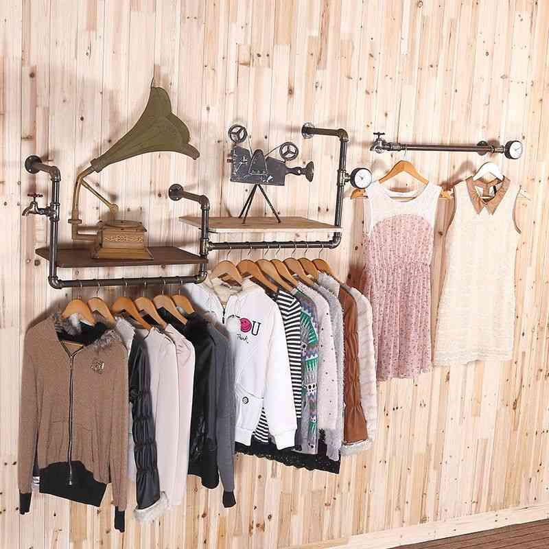 European-style Faucet Water Pipe Retro Clothing Store/display Rack